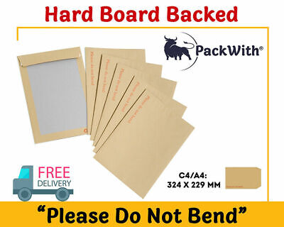 'Please Do Not Bend' Hard Card Board Backed Brown Manilla Envelopes  A4
