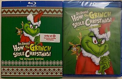 New How The Grinch Stole Christmas Bluray Targetexclusive Ugly Sweater Slipcover