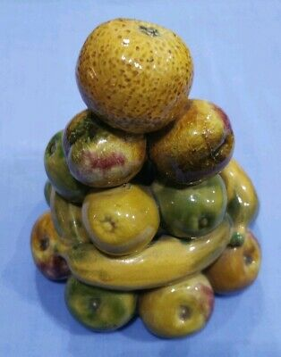Glazed Ceramic Vintage Fruit Stack Ornament
