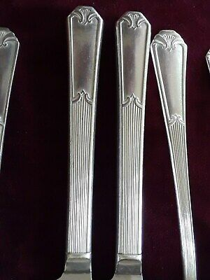 "VTG. Wm. ROGERS MFG.CO Silver Plated Flatware, 1933 Pattern "" FIDELIS "",9 Pc."