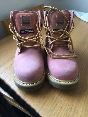 Groundwork - Pair Of Ladies/Girls Pink Safety Boot Size 5