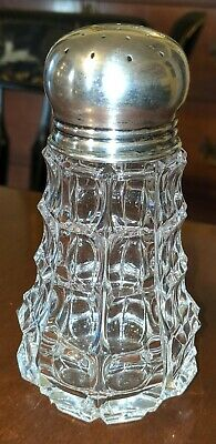 Antique Cut Glass & Silver Muffineer Shaker Continental 800 TM