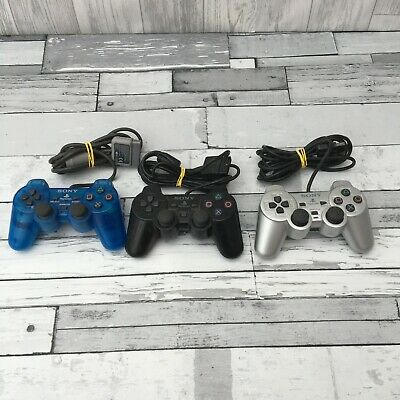 Sony Playstation 2 Official Controllers X3 Job Lot Bundle