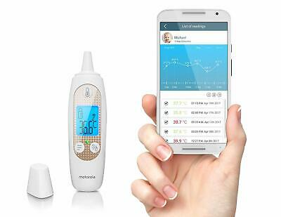 Motorola Smart In-Ear Thermometer With Temperature Tracking & Wi-Fi.Smart App
