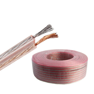 50/' feet 16 Gauge AWG Pure Copper Flat 2-Conductor Speaker Wire Audio Cable