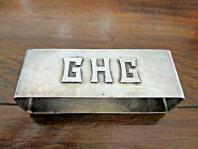 ARTS & CRAFTS Sterling Silver Raised G H G Mono Hand Wrought 38 Gram Napkin Ring