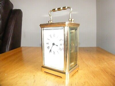 Beautiful condition French 5 glass carriage clock good working order