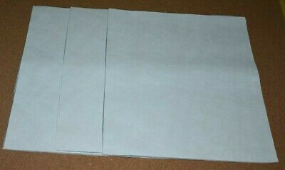 Scrap Leather Genuine cowhide Very Nice  White10 x12  inches 3 pieces NEW