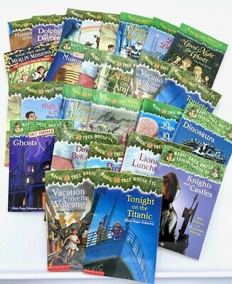 10 Pack Bundle/Lot Of Magic Tree House Home School Children's Chapters