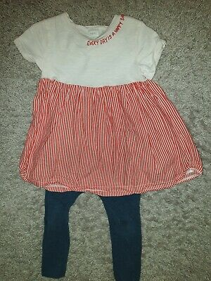 Girls Age 2-3 Years Next Outfit Leggings Top Striped