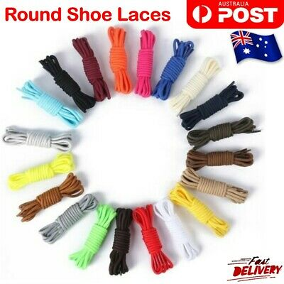 Colorfull Round Shoe Laces Bootlace Shoelaces Sneakers Runners Coloured String