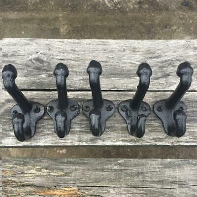 Vintage Style Cast Iron Wall Coat Hooks Hat Hook Hall Tree 2 3/4 inch C#P5