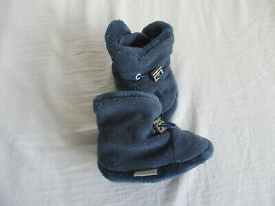 Minymo Baby Footies warme Stiefel wasserfest 8000 mm in dunkelblau Winterstiefel