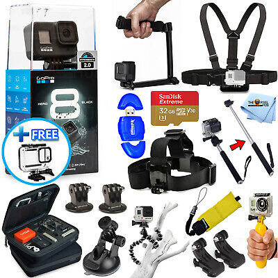 GoPro HERO8 HERO 8 Black All In 1 PRO ACCESSORY KIT W/ 32GB SanDisk + MUCH MORE