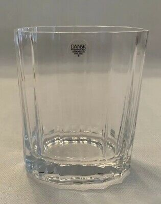 """DANSK Oval Facette 4""""  DOUBLE OLD FASHIONED GLASS  Quantity Available  PERFECT !"""