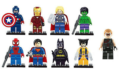9 X Marvel Avengers Super Hero Batman Hulk Minifigs Hawkeye ++++ Many More 2019