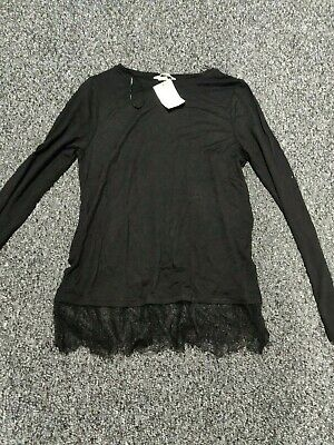 new with tags size x small black top by h&m