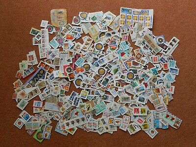 150 g World mixture of stamps on clipped down paper. Kiloware. Bulk / job lot.