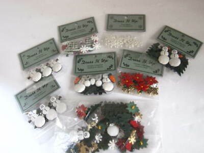 """7 NEW Pkgs. """"Dress It Up""""  - Holiday Collection Buttons and Embellishments"""