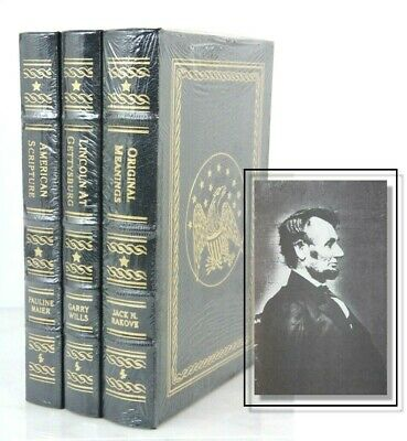 LINCOLN AT GETTYSBURG, AMERICAN SCRIPTURE, ORIGINAL MEANING  Easton Press SEALED
