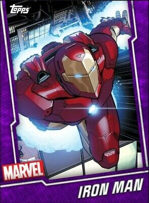 Topps Marvel Collect Tier 6 Purple Iron Man
