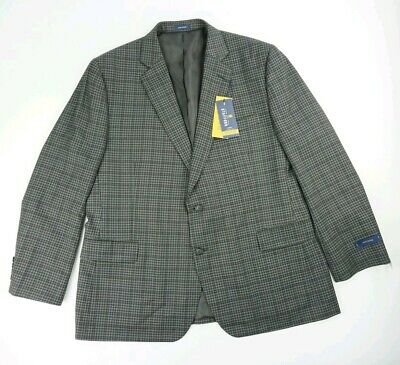 Stafford 2 Button Blazer Coat Jacket Men's Size 48 Regular charcoal check 48R