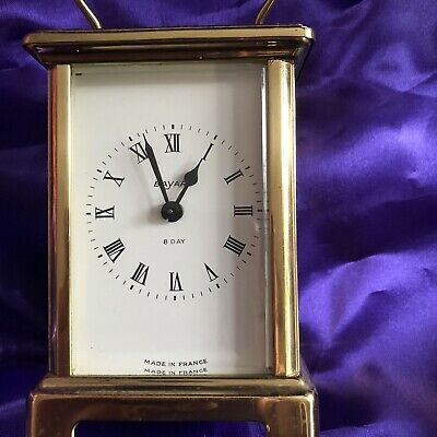 Antique Carriage Mantel ClockBayard 8 Day Brass Migonette Clock