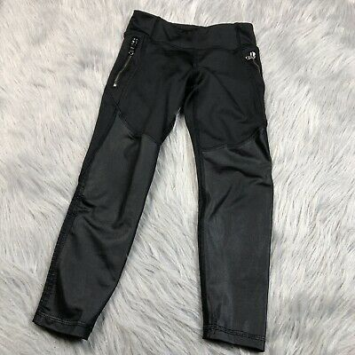 Old Navy Active Girls Black Go Dry Athletic Leggings XS 5