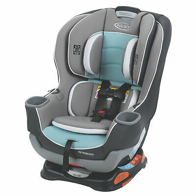 Graco Extend2Fit Convertible Car Seat, Spire Teal