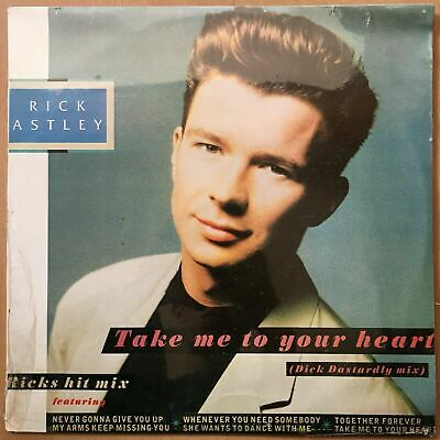 "Rick Astley ‎– Take Me To Your Heart (Dick Dastardly Mix) LP 12"" Venezuela New"