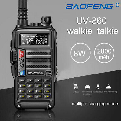 BaoFeng UV-860 8W Dual Band Walkie Talkie 128CH VOX CTCSS Long Range 2 Way Radio