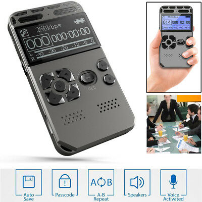 High Quality 64GB LCD Digital Audio Sound Voice Recorder Dictaphone MP3 Player