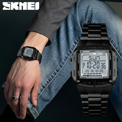 SKMEI Men's Digital LED Waterproof 5 Alarm Military Wrist Watches Sport Watch