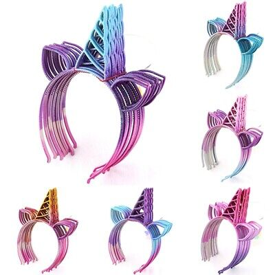 Unicorn Headband Kids Glitter Unicorn Horns DIY Hairband Xmas Party Gifts HGUK