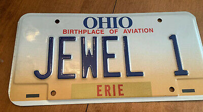 Ohio Birthplace of Aviation Vanity Personalized License Plate ~ JEWEL 1~ Emb
