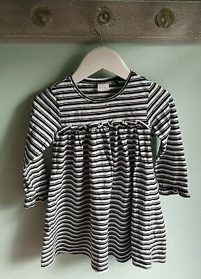Girls Smart Striped Everyday Dress Outfit By Next Size 2-3 Years black white