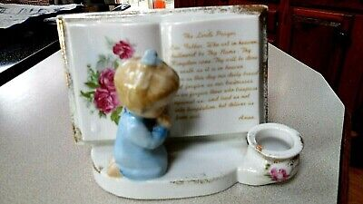 The Lord's Prayer Decorative Piece Toddler Praying with Book Open to Lord's Pray