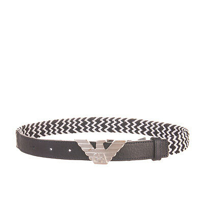RRP €230 ARMANI JUNIOR Belt Size 59 / S Contrast Leather Partly Elasticated