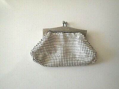 Vintage GLOMESH WHITE Coloured Mesh Glasses Case, Holder, Purse
