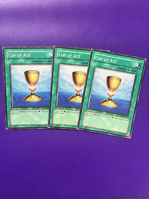 Mixed Yu-Gi-Oh 3x Cup Of Ace 1st Edition LODT-EN050