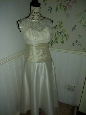 Two piece wedding dress Cream And Ivory