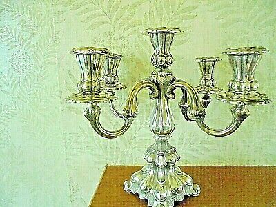 Superb Vintage Danish Silver Plated/White Metal Candelabra