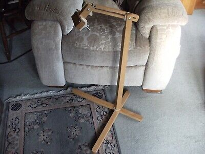 Pre-owned Wooden Embroidery Floor Stand Frame Holder - Excellent Condition
