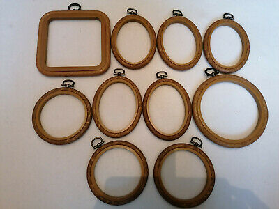 Embroidery hoops - wood effect, various sizes