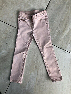 Girls Next Pink Shimmer Coated Skinny Jeans Age 6