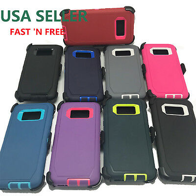 For Samsung Galaxy S8 For S8 PLUS Defender Cover Clip Fits Otter box Defender