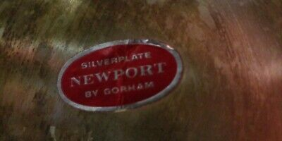 Gorham Newport Silverplated Punch Bowl With Original Label