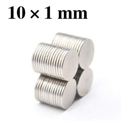 10pcs 10x1mm Super Powerful Strong Round Neodymium Disc Magnets N35 Rare Earth