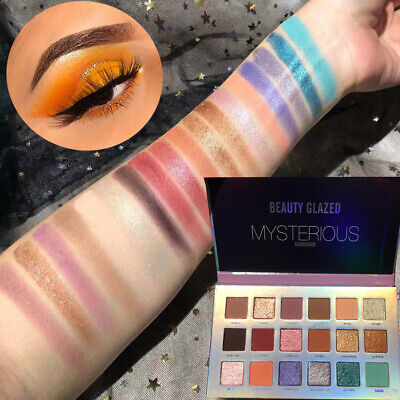 Eye Shadow Highlighter Pigmented Matte Pearlescent  Shimmer Eyeshadow Palette