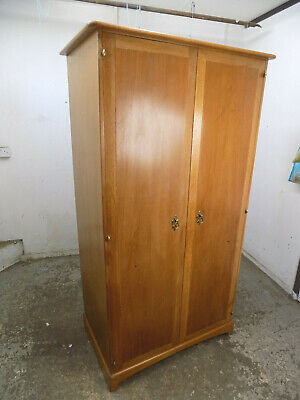 vintage,maple,small,slim,2 door,wardrobe,shelves,comes apart,flat pack,breakdown